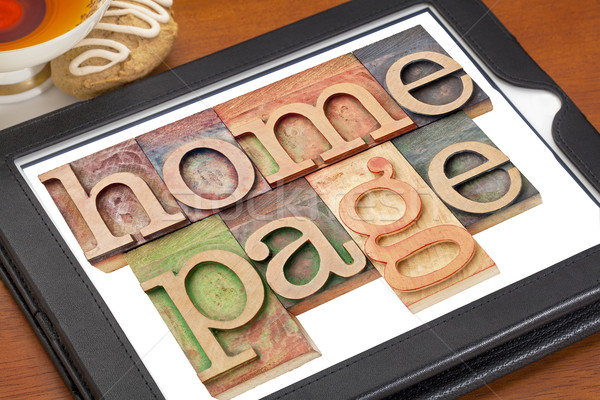 home page on digital tablet Stock photo © PixelsAway