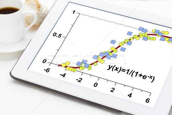 Zdjęcia stock: Danych · wzrostu · model · cyfrowe · tabletka · kubek