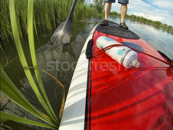 stand up paddling detail Stock photo © PixelsAway