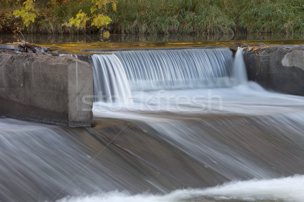 old river dam with falling water Stock photo © PixelsAway
