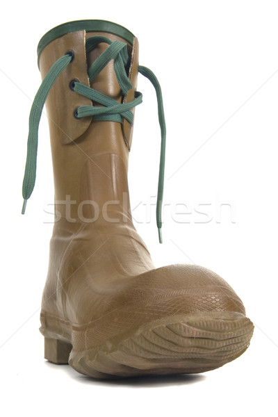 heavy rubber boot with laces Stock photo © PixelsAway