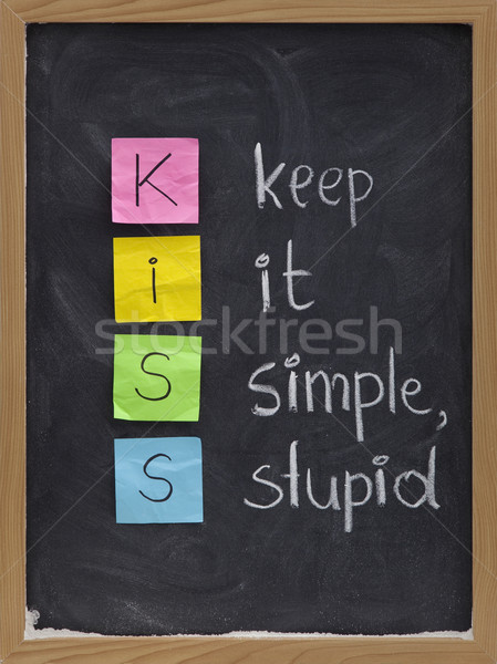 keep it simple, stupid - KISS principle Stock photo © PixelsAway