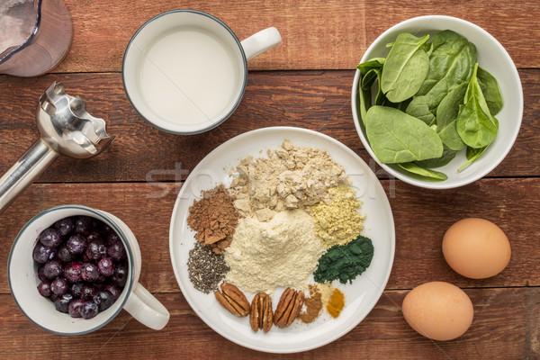 superfood smoothie ingredients Stock photo © PixelsAway