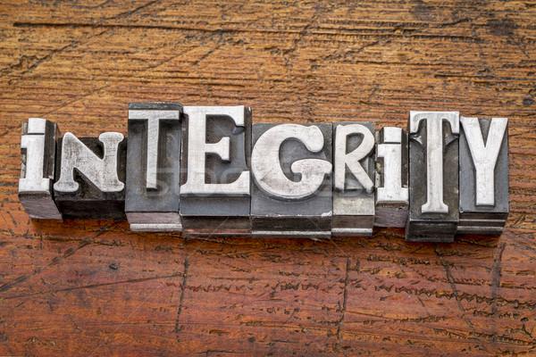 integrity word in metal type Stock photo © PixelsAway