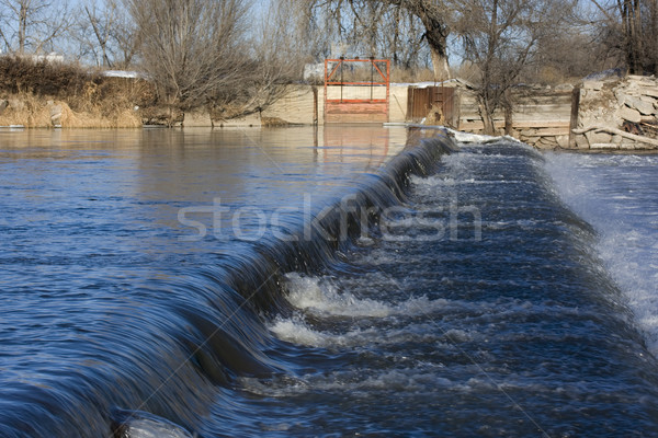 diversion dam on a river Stock photo © PixelsAway