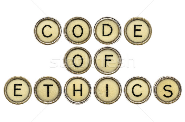 code of ethics in typewriter keys  Stock photo © PixelsAway