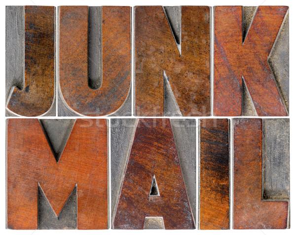 Kacat posta fa izolált szöveg Stock fotó © PixelsAway