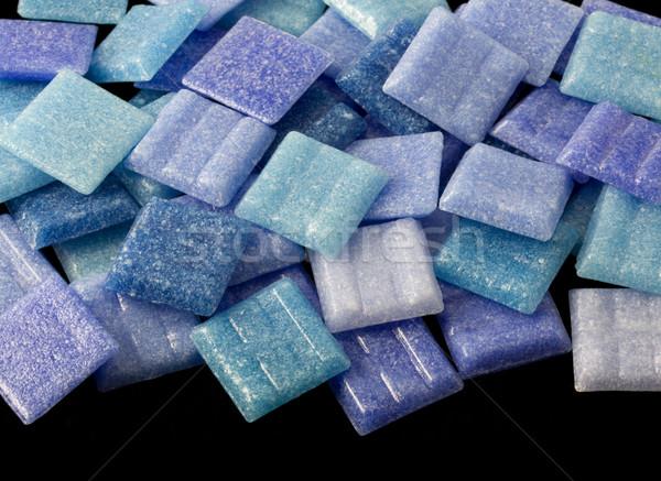 blue glass mosaic tiles Stock photo © PixelsAway