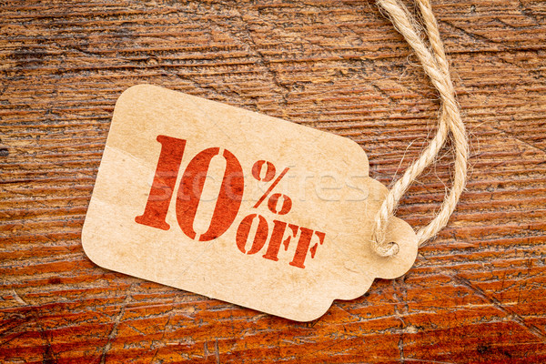 ten percent off discount -  paper price tag  Stock photo © PixelsAway