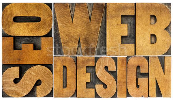 Seo веб-дизайна слово аннотация изолированный Vintage Сток-фото © PixelsAway
