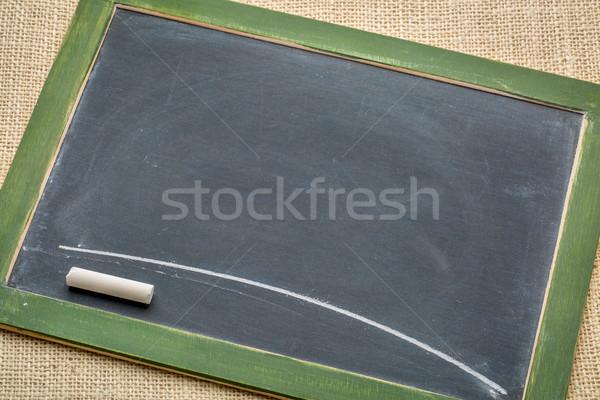 blank slate blackboard with chalk Stock photo © PixelsAway