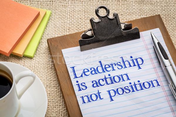 ストックフォト: リーダーシップ · アクション · しない · 位置 · リマインダー · クリップボード