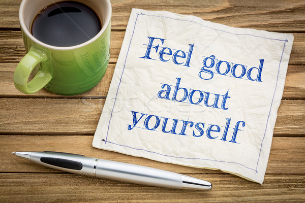 feel good about yourself advice Stock photo © PixelsAway