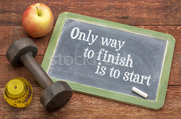 Only way to finish is to start Stock photo © PixelsAway
