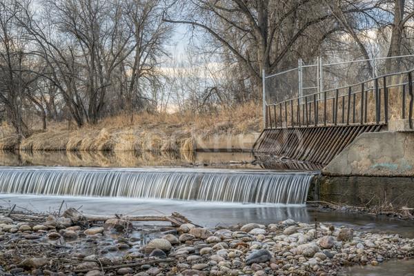 Rivier water nalatenschap park fort winter Stockfoto © PixelsAway
