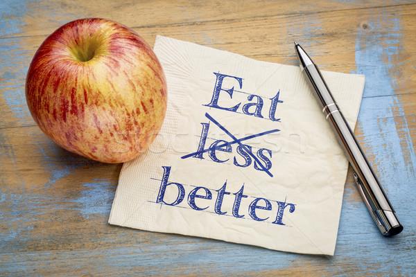 食べる しない レス ナプキン 手書き ストックフォト © PixelsAway