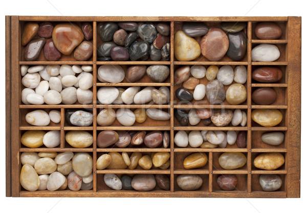 river pebbles in typesetter drawer Stock photo © PixelsAway