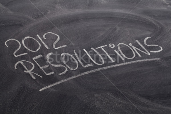 2012 resolutions on blackboard Stock photo © PixelsAway