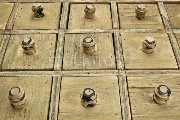 Rustiek lade kabinet houten catalogus laag Stockfoto © PixelsAway