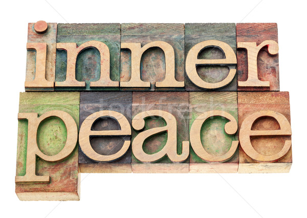 Iç barış ahşap tip yalıtılmış metin Stok fotoğraf © PixelsAway
