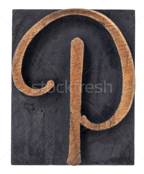 ornamental letter P  Stock photo © PixelsAway