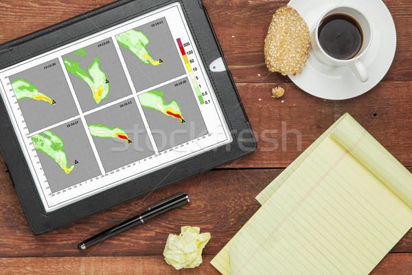 Rook simulatie computer model grafieken digitale Stockfoto © PixelsAway