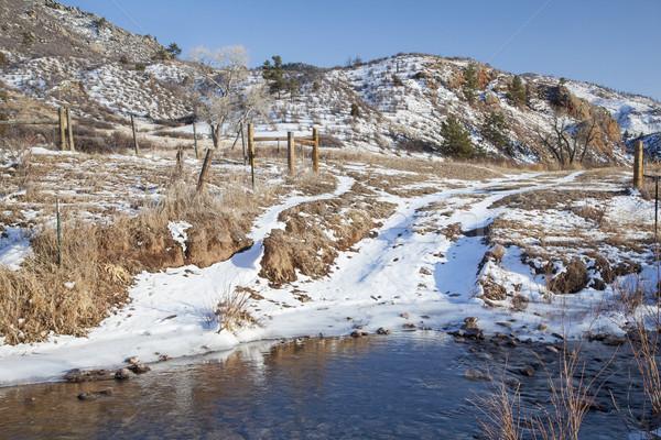 ранчо дороги потока горные долины зима Сток-фото © PixelsAway