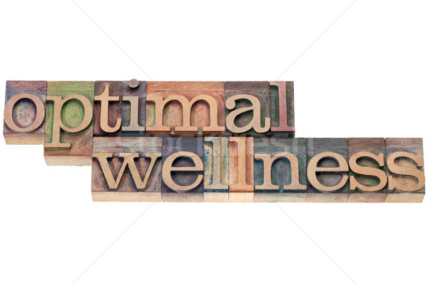 optimal wellness in wood type Stock photo © PixelsAway