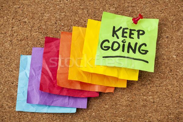 keep going motivation concept Stock photo © PixelsAway
