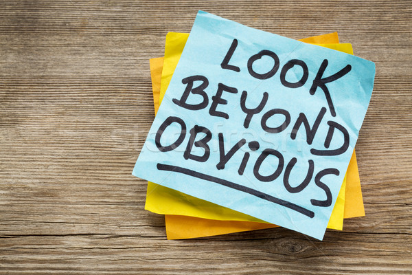 look beyond obvious note Stock photo © PixelsAway