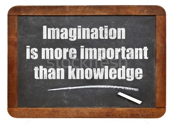 想像力 知識 引用 もっと 重要 白 ストックフォト © PixelsAway