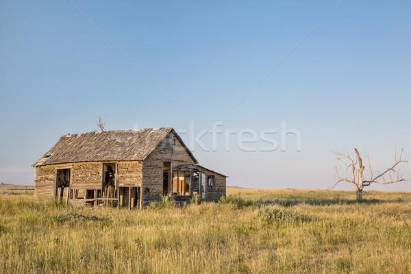 old homestead on prairie Stock photo © PixelsAway