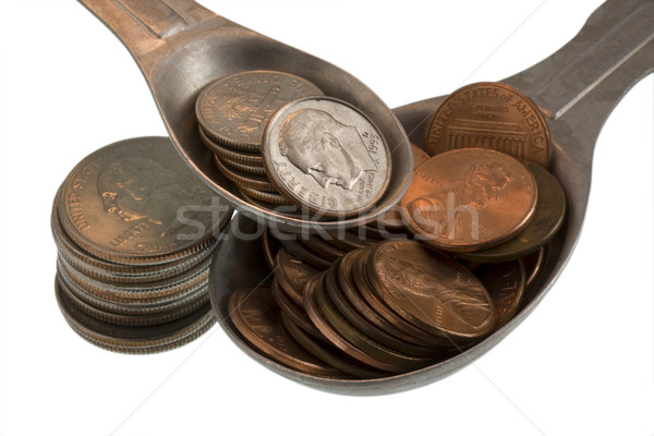 Wealth recipe ingredients - pennies, dimes, quarters Stock photo © PixelsAway