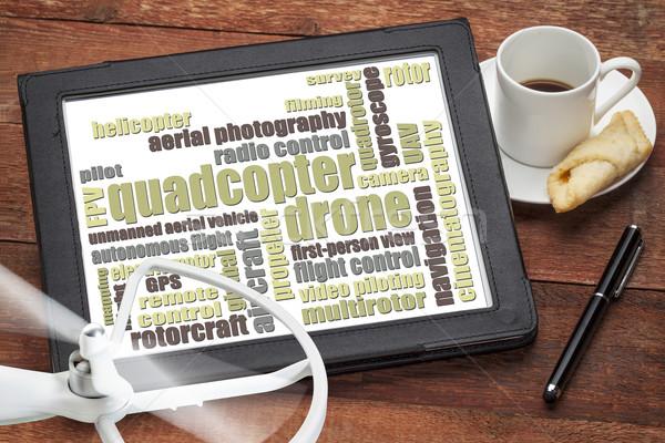 quadcopter drone word cloud Stock photo © PixelsAway