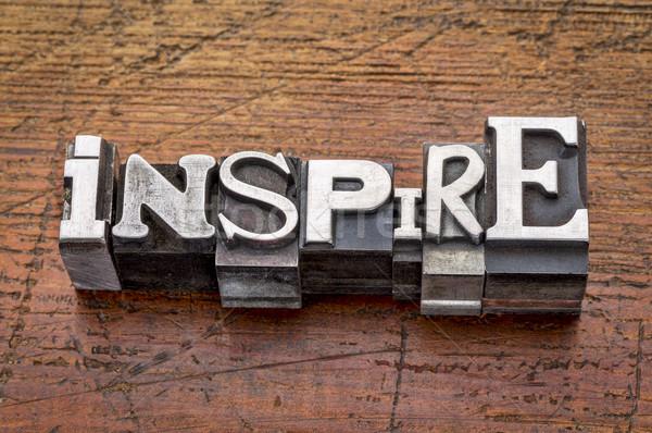 Inspirer mot métal type mixte vintage Photo stock © PixelsAway