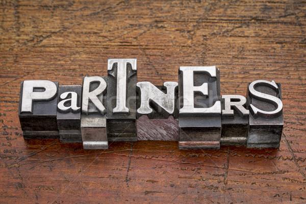 partners word in metal type Stock photo © PixelsAway