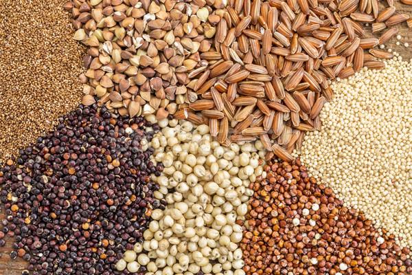 Gluténmentes magvak absztrakt választék barna rizs Stock fotó © PixelsAway