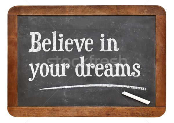 Believe in your dreams on blackboard Stock photo © PixelsAway