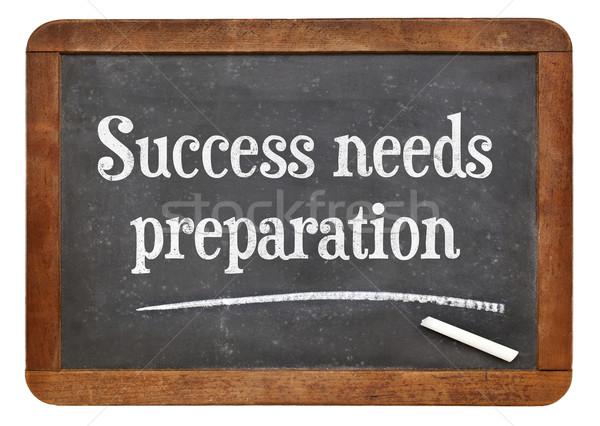 Başarı hazırlık tahta motivasyon metin bağbozumu Stok fotoğraf © PixelsAway