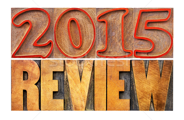 2015 year review banner Stock photo © PixelsAway