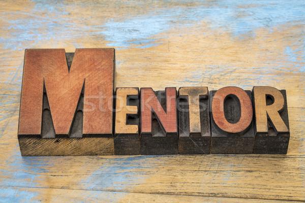 mentor word in wood type Stock photo © PixelsAway