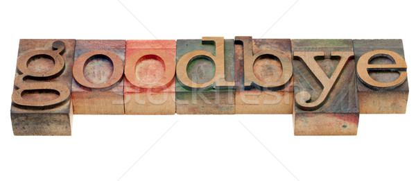 Kelime ahşap tip veda Stok fotoğraf © PixelsAway