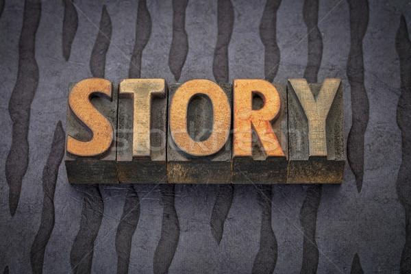 story word in wood type Stock photo © PixelsAway
