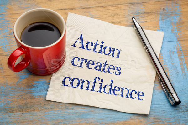 Action created confidence Stock photo © PixelsAway