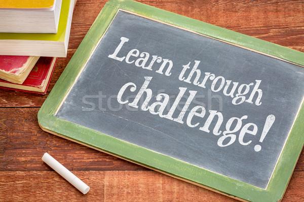 學習 挑戰 黑板 動機 白 粉筆 商業照片 © PixelsAway