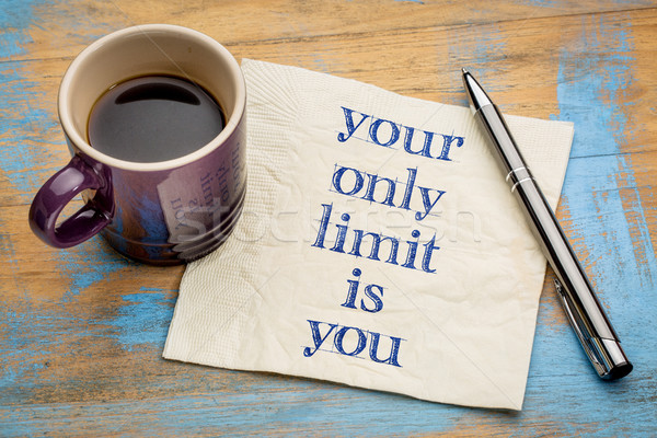 Your only limit is you - concept on napkin Stock photo © PixelsAway