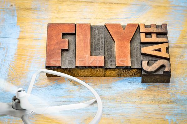 Vliegen veilig operatie herinnering woord abstract Stockfoto © PixelsAway