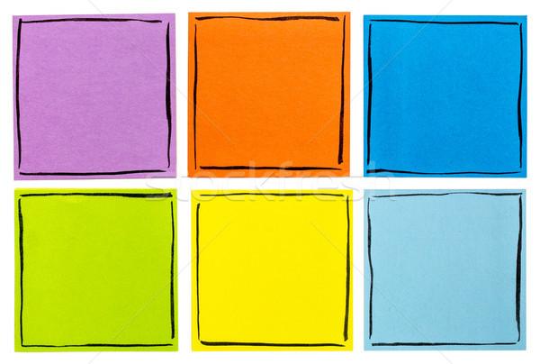 Izolált cetlik szett hat emlékeztető jegyzetek Stock fotó © PixelsAway