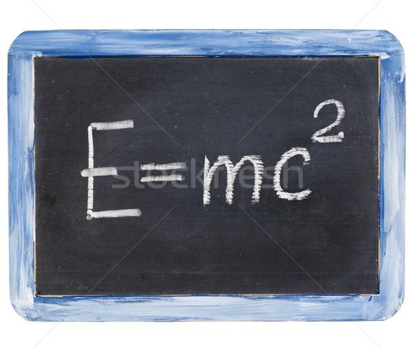 Gleichung Physik Bildung wenig Licht blau Stock foto © PixelsAway