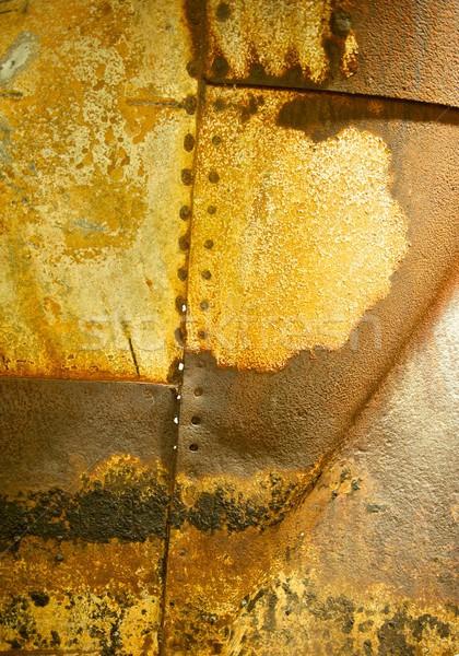 Arrugginito metal rivetto orizzontale visibile Foto d'archivio © pixelsnap
